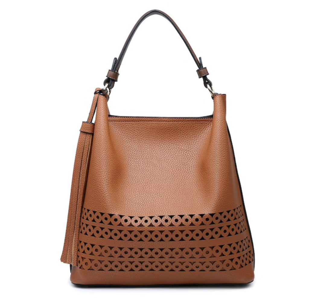 Cognac Hobo Bag