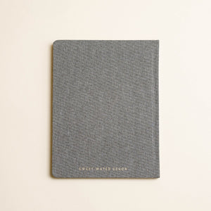 GREY FABRIC ACADEMIC PLANNER 2020-2021
