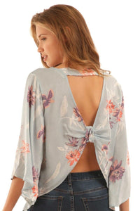 Floral Knot Back Top - T158