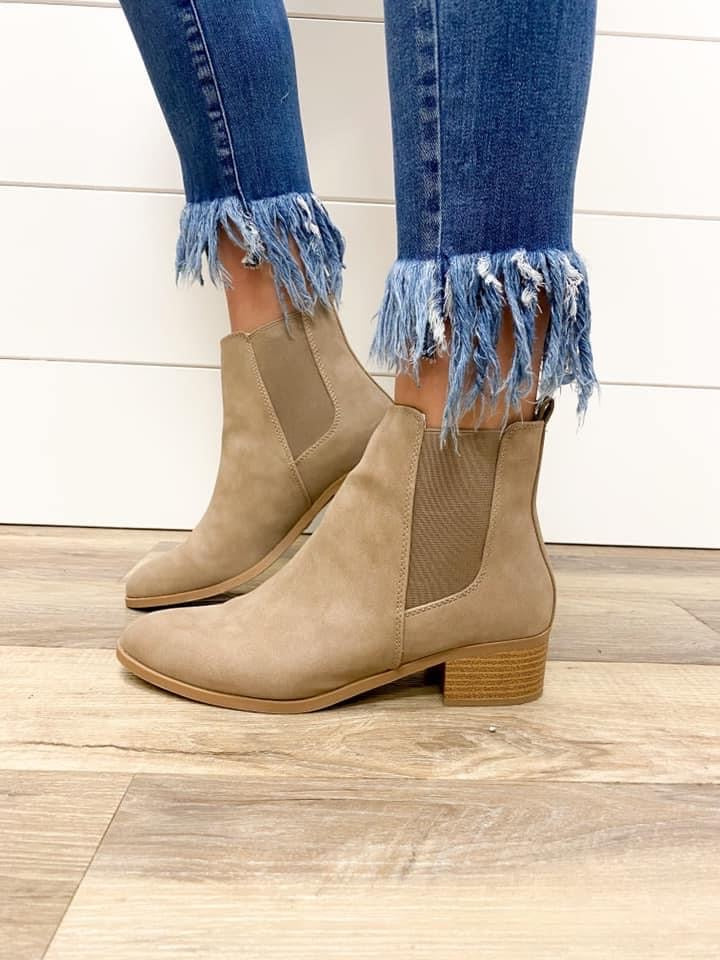Taupe Harvest Booties