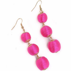Pink Pearl Drop Earrings- B23