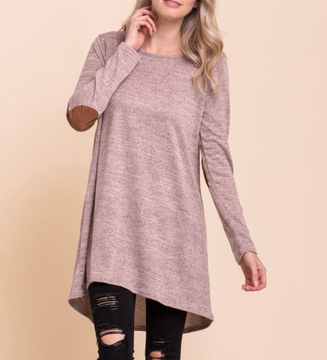 Mixed Heather Tunic- T482