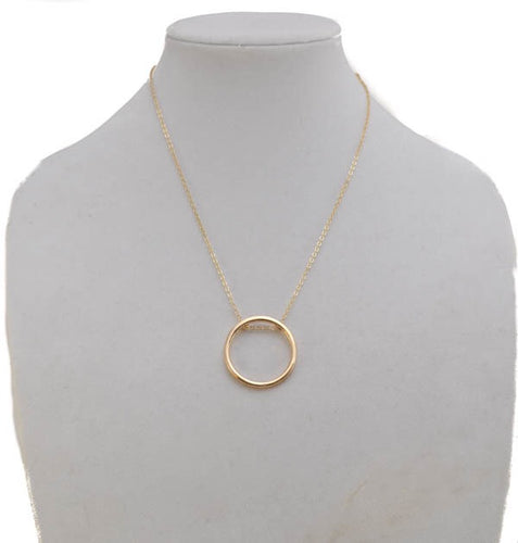 Gold Pendant Necklace- B68