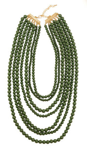 Olive Layered Necklace - B61