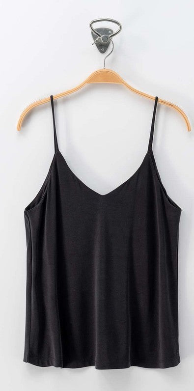 Black Soft Strap Cami Top