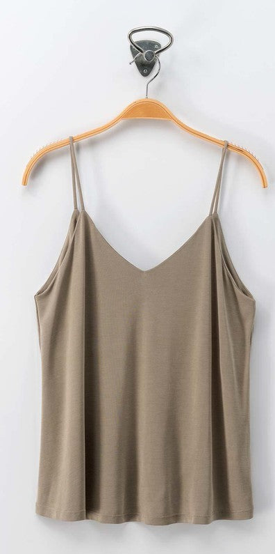 Olive Soft Strap Cami Top