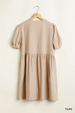 Delaney Tunic Dress (Taupe)