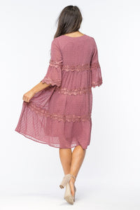 Lace Baby Doll Dress - T359