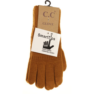 C.C Classic Knit Gloves Camel