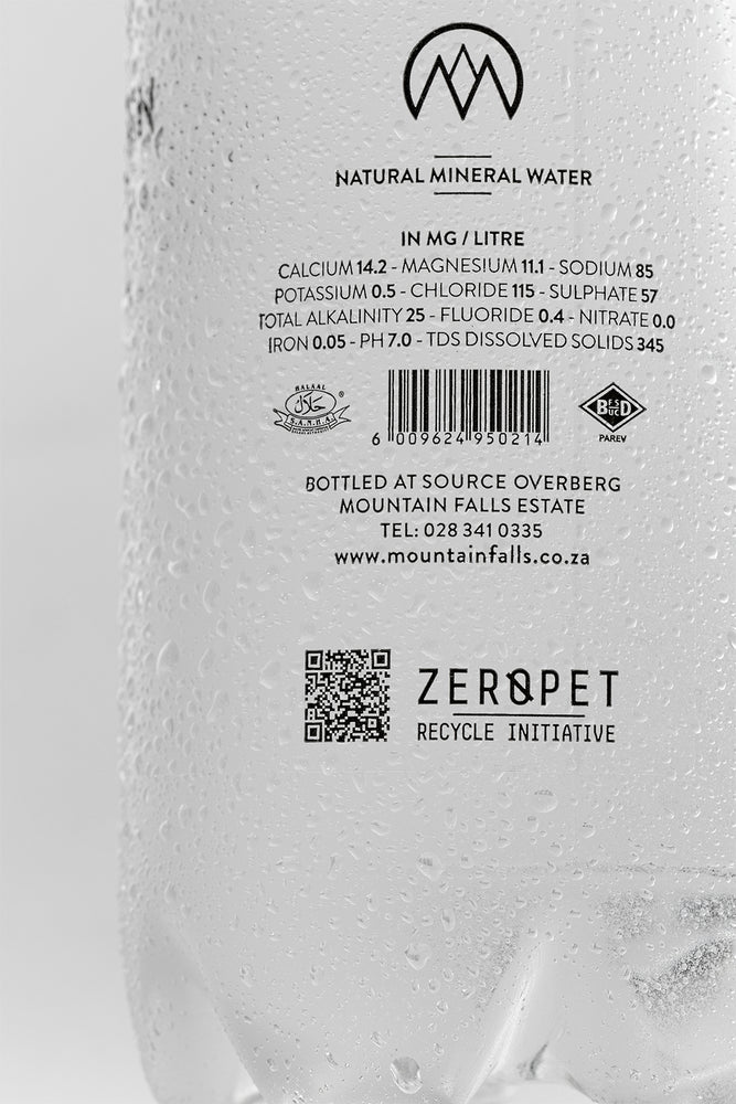 1 Litre - ZEROPET (Pack of 12) - PET | Shop Mountain Falls Mineral Water