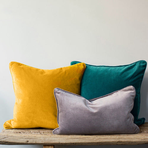Velvet Cushion Cover - Dark Yellow - 4 sizes available (DC-162)
