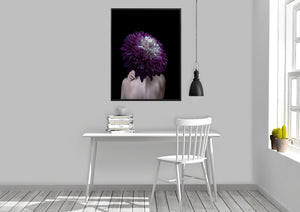 Wall Art -  Dahlia - She who turns into a flower... - Transformation series   (A-407)