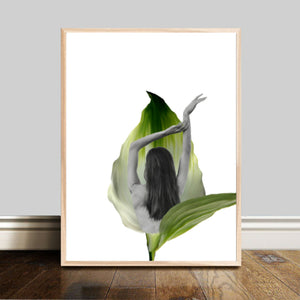 Wall Art - Lilly Calla.. She who turns into flower - Transformation series (A-433)