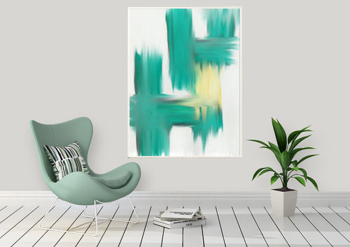 Wall Art -  Abstract Greens (A-499)