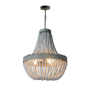 Lighting- Rustic Wooden Beads Chandelier Light (L-57)