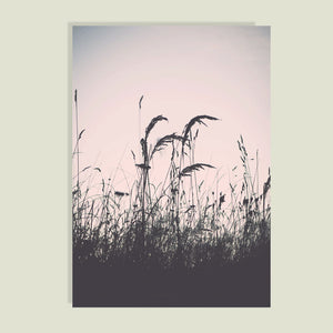 Wall Art - Nordic style Wheat Field Landscape print on Pink Background -(A-213)
