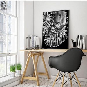 Wall Art - Black&White Lion   (A-370a)