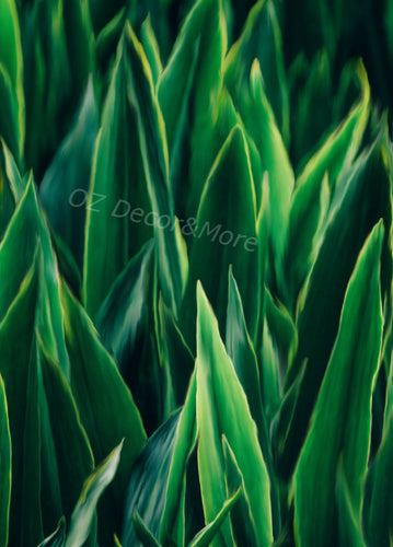 Wall Art -  Green leaves  (A-632)