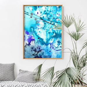 Wall art- Abstract No.11 water color- Framed/ Unframed Art print (A-570ABA11)