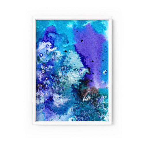 Wall art- Abstract No.12 water color- Framed/ Unframed Art print (A-571)