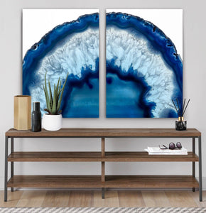 Wall art- Agate Mineral Gemstone Geode No.5  -(A-245)