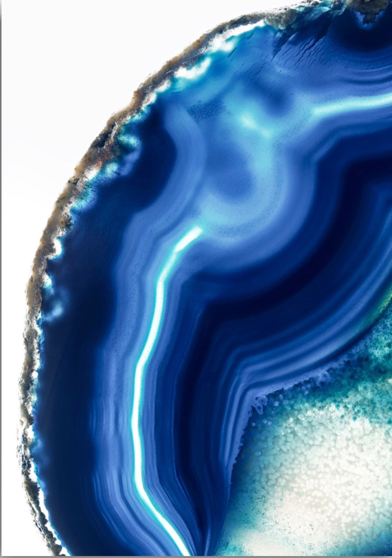 Wall art- Agate Mineral Gemstone Geode No.8  -(A-248)