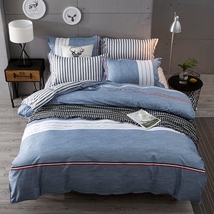 Bedding - Blue/White/Red Bedding set (B-14)