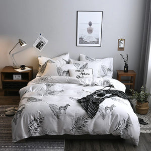 Bedding - 3/4 pcs Black & white Zebra Pattern Bedding set (B-131)