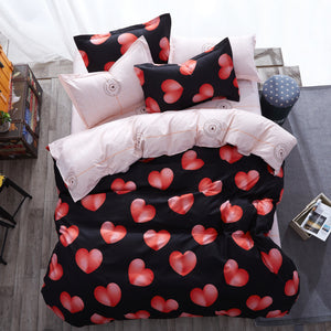 Bedding -Hearts Bedding set (B-13)