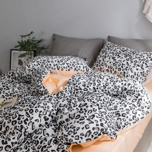 Leopard prints  100% Cotton  Bedding set- (B-142)