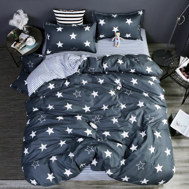 Bedding - Stars Black Bedding set (B-19)