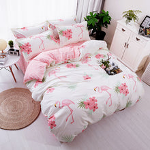 Bedding - Pink Flamingo 4 pcs Bedding set No.3 (B-21)