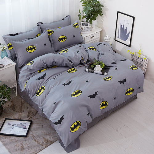 Bedding- 4 pcs BatMan bedding set  (B-37)