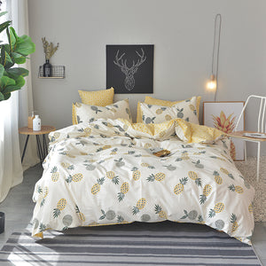 Bedding -Double sided Quilt Cover Set 100% Cotton- Pineapple pattern (B-52)