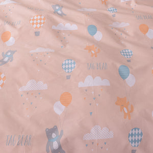 Bedding -Double sided Quilt Cover Set 100% Cotton- Hot air balloon Pattern (B-59)