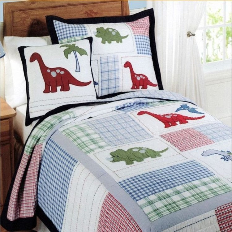 Bedding -2pc Dinosaur comforter blanket Set (B-75)