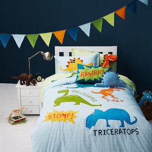 Bedding - 3/4pcs Embroidered Patchwork Dinosaurs set (B-95)