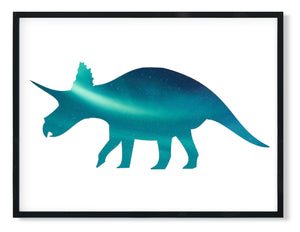Wall Art -  Triceratops Dino Print  (A-826)