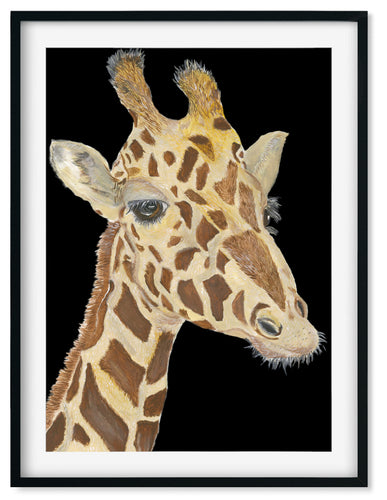 Wall Art - Jo The Giraffe Hand painted print - Framed / unframed art print (NWA-2)