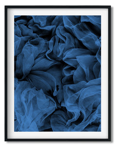 Wall Art - Textured Net Blue - Framed / unframed art print (A-647A)