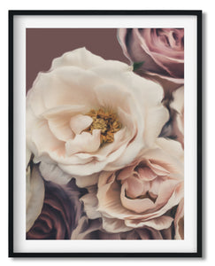 Wall Art -  Soft Roses - Framed / unframed art print (A-292)