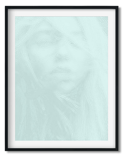Wall Art - Girl In Blues- Framed / unframed art print (A-775)