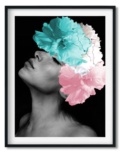 Wall Art - Floral Headdress - Grace - Framed / unframed art print (A-691)