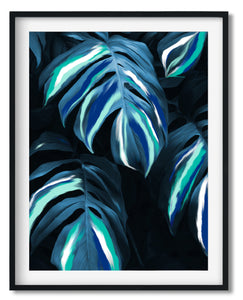 Wall Art -  Night Leaves - Framed / unframed art print (A-782)