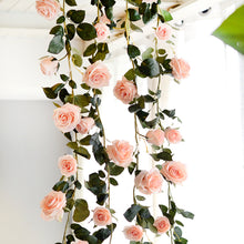 Decor - Rose Flower Garland - Peach (D-102)