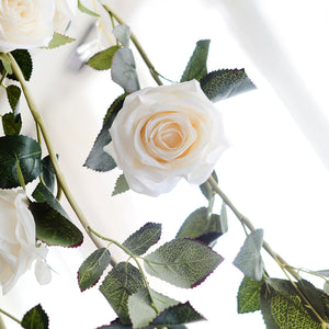 Decor - Rose Flower Garland - White (D-103)