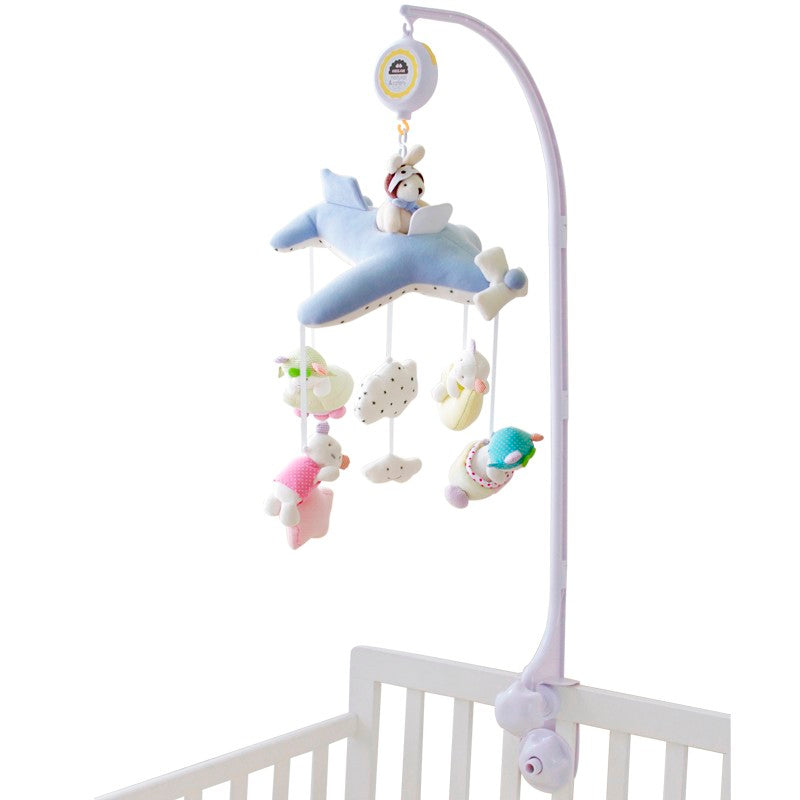 Decor -Airplane Baby Mobile with music box-  (D-131)
