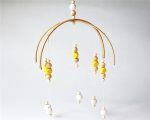 Decor -Wooden Nordic Style nursery mobile - Yellow  (D-138)