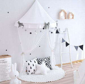 Décor - Kids B&W Cotton Play Tent  (D-140)