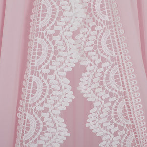 Lace Bed Canopy -Pink (D-154)